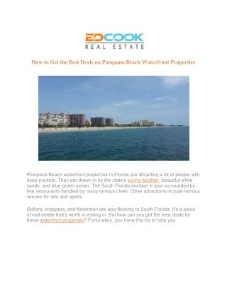 Pompano Beach Waterfront Properties