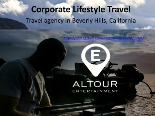 Corporate Lifestyle Travel