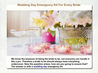 Wedding Day Emergency Kit For Every Bride