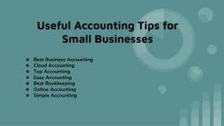 Useful Accounting Tips for Small Businesses