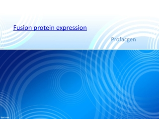 Fusion protein expression