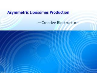 Asymmetric Liposomes Production