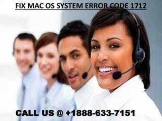 fix Mac OS System Error Code 1712