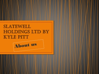 Slatewell holdings ltd by Kyle Pitt