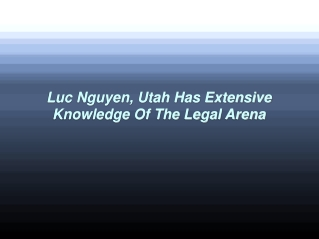 About Luc Nguyen