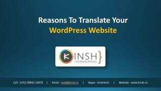 Reasons To Translate Your WordPress Website