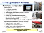 Facility Operations Performance