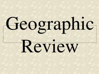 Geographic Review