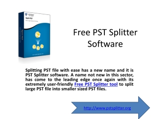 Free PST Splitter Software