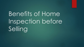 Benefits of home inspection before selling