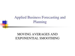 Moving-average-methods