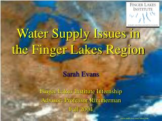 Water Supply Issues in the Finger Lakes Region