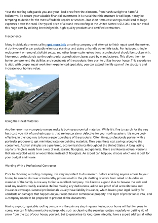 How to Discover a Credible Roofing Company