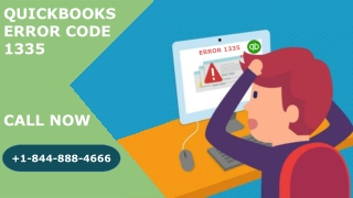 How to resolve QuickBooks Error Code 1335