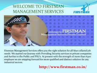 Welcome To First Man Management