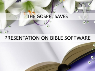 Presentation on Bible Software