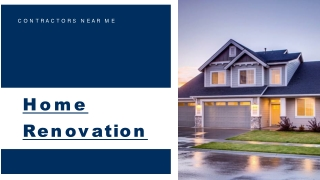Take Expert Help For Making Your Entire Home Renovation