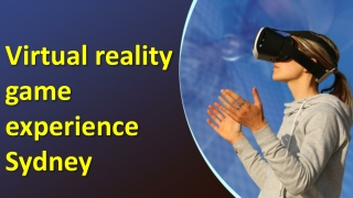Virtual reality game experience Sydney