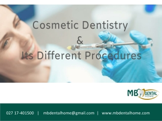 Cosmetic Dentistry and Its DifferentProcedures