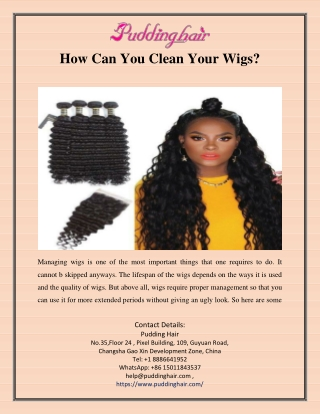 How Can You Clean Your Wigs?
