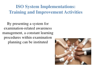 ISO System Implementations: Training and Improvement Activities | Online Course | Udemy