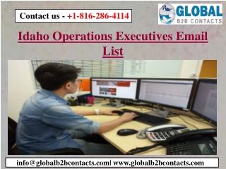 Idaho Operations Executives Email List