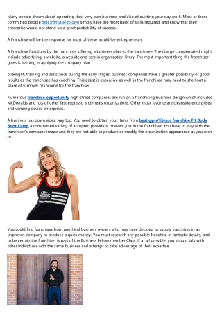 Fitness Franchises In Canada
