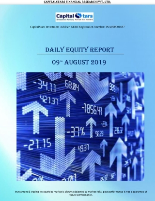 Daily Equity Report 09 AUGUST 2019