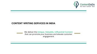 Content Writing Services in Chennai
