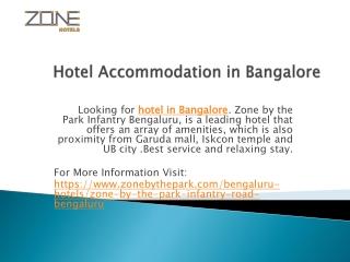 Hotel Accommodation in Bangalore