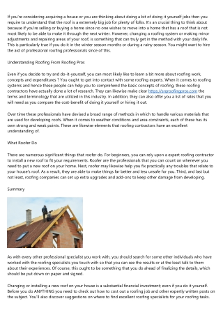 Finding a Professional Roofing Professional