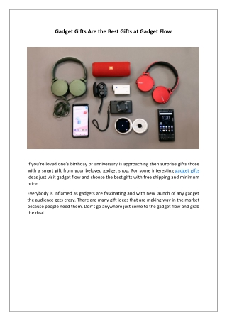 Gadget Gifts Are the Best Gifts at Gadget Flow