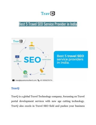 Best 5 Travel SEO Service Provider in India