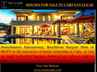 Houses for sale in cabo san lucas