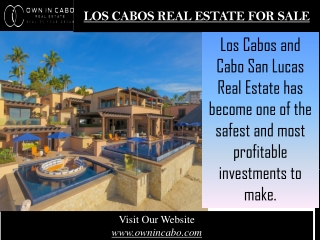 Los cabos real estate for sale