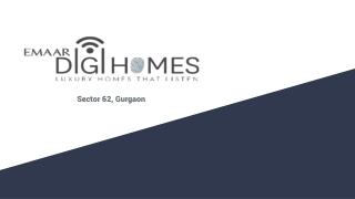 Emaar Digi Homes Gurgaon - Luxurious Apartments in Sector 62 Gurgaon