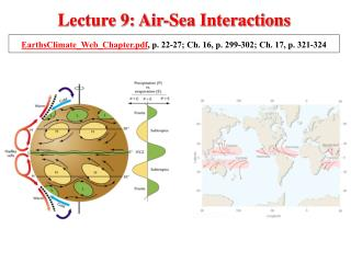 Lecture 9: Air-Sea Interactions