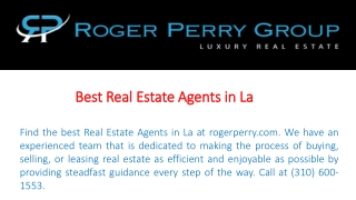 Best Real Estate Agents in La