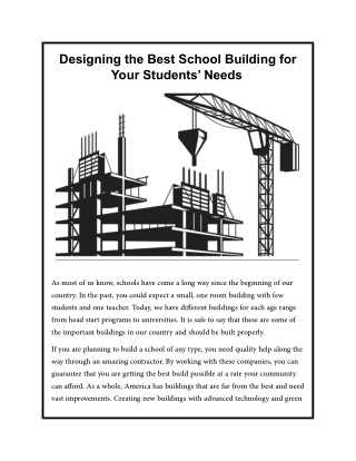 Designing the Best School Building for Your Students' Needs
