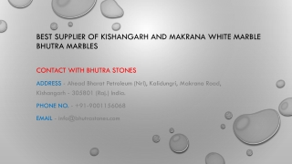 Best Supplier of Kishangarh and Makrana white marble Bhutra Marbles