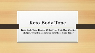 Keto Body Tone For Some Serious Weight Loss! | Product Review