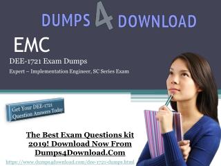 Get DEE-1721 Dumps & DEE-1721 Real Exam Questions