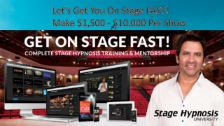 Learn Stage Hypnotism | Best Hypnosis Training | Stage Hypnosis University