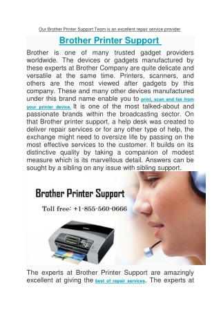 Our Brother Printer Support Team is an excellent repair service provider