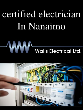 certified electrician In Nanaimo