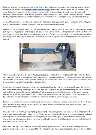 The Biggest Problem With Deflecto Dryer Vent Cleaning Kit, And How You Can Fix It