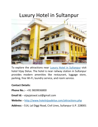 Luxury Hotel in Sultanpur