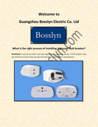 GFCI Outlet and GFCI Outlet with USB