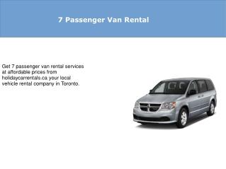 7 Passenger Van Rental