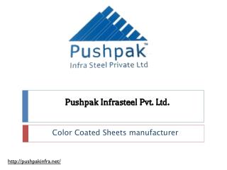 Color Coated Sheets manufacturer